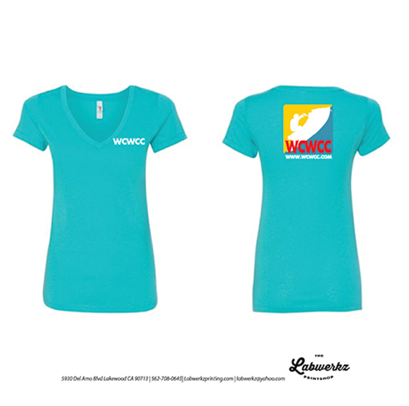 814e3af6 WCWCC Runabout Club Teal Green V-Neck T-shirt (Women's Fit) – WCWCC
